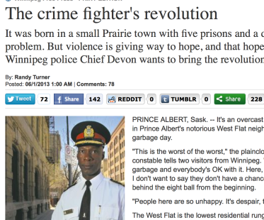 The crime fighter's revolution — police in Canadian town use