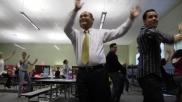 Even Godwin Higa, principal of Cherokee Point Elementary School, takes part.