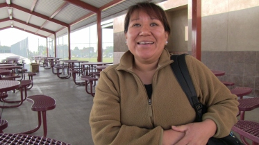 "Luz Vidal, who leads the school's parents' organization, has two children at Cherokee Point. ""The school keeps us very well informed, and is always willing to have us here,"" she says. In other schools, ""some principals will sit in their office and you never see them. But Principal Higa is always out; he's very involved."""