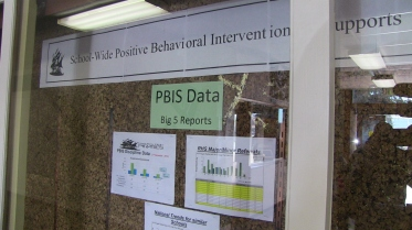 The PBIS data is put on display for everyone to see.