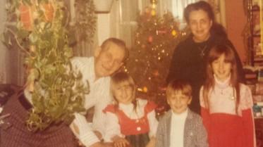Grandpa, Ann, Craig, Grandma, Leisa, 1976 or 1977