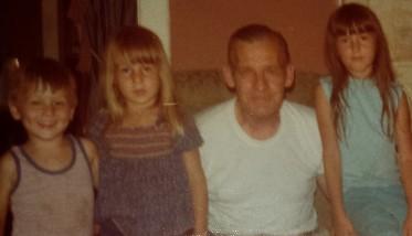 Craig, Ann, Grandpa, Leisa, 1976