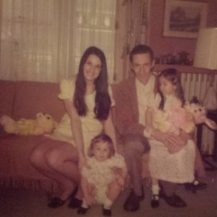 Mom, Ann, Dad, Leisa, 1972 ______________________