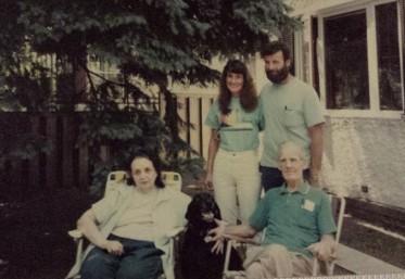Grandma, Mom, her brother, Grandpa