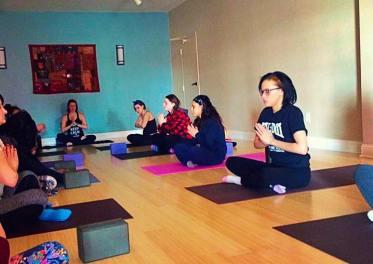 Yoga class at Paladin.