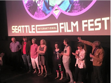 The cast and crew of Paper Tigers take a bow after the sold-out premiere at the Seattle International Film Festival.