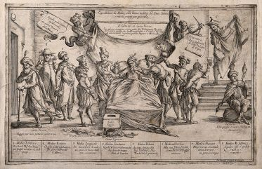 Etching by G.M. Mitelli, c. 1700. Wellcome Images.