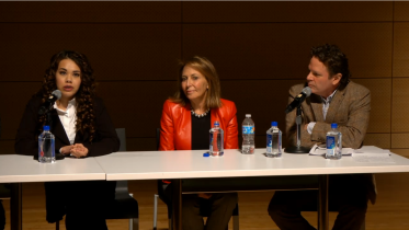 (l to r) Kelsey, Pam Cantor, David Bornstein _______________