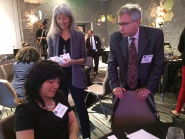 (l to r) Joyce Dorado, UCSF HEARTS Program; Serena Clayton, California Association for School Based Health Centers; Ken Epstein, San Francisco Department of Public Health ___________________________