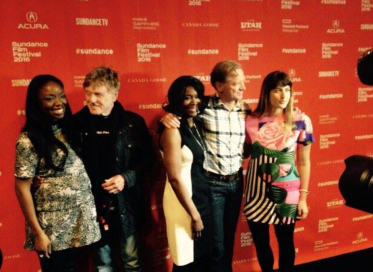 (l to r) Dr. Nadine Burke Harris, who appears in Resilience; Robert Redford, father of Resilience director James Redford; Clifford Beers Guidance Clinic site coordinator Laura Lawrence, who appears in Resilience; Resilience producer and director James Redford; Resilience co-producer Dana Schwartz