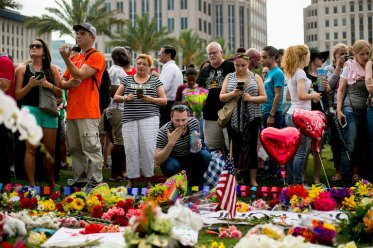 Mourners in Orlando. Photo credit: Sam Hodgson for The New York Times