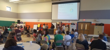 Hopeworks teens lead a workshop for teachers