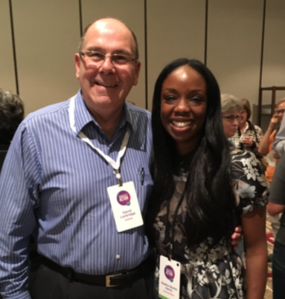 Dr. Nadine Burke Harris with Dave Lockridge, founder of ACEOvercomers.