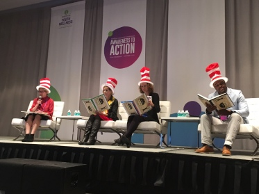 (l to r) Jane Stevens, Teri Barila, Ariane Marie-Mitchell, DeAngelo Mack